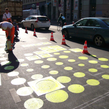 Lauter gelbgrüne Punkte